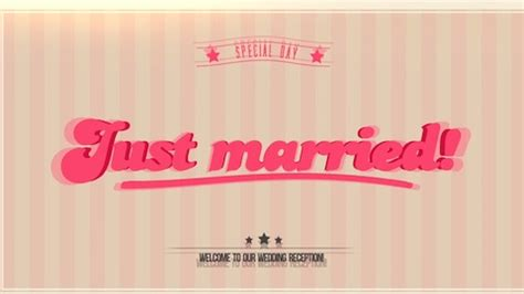 【Just Married】オープニングムービー – プロフィールムービーで