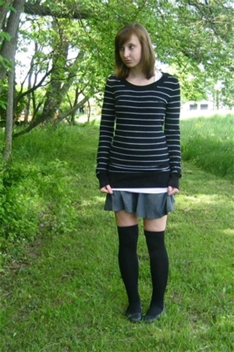 H&M Sweaters, Forever 21 Tights, American Apparel Skirts